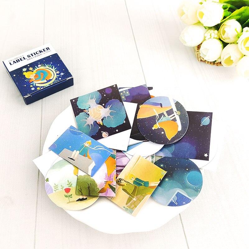 Купить с кэшбэком 40 Pcs/box little prince Mini Paper Decoration DIY Scrapbook Notebook Album seal Sticker Stationery Kawaii Girl Sticker