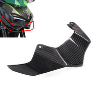 LJBKOALL Motorcycle Carbon Fiber Lower Front Headlight Fairing Cover for Kawasaki Z900 2017 2018 Free Shipping
