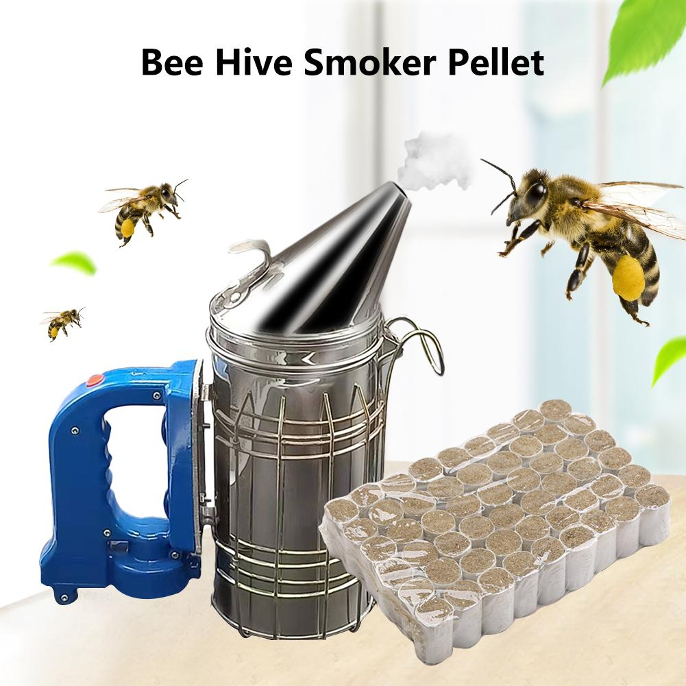 54PCS Bee Hive Smoker Pellet Solid L Beekeeping Tool Chinese Medicinal Herb Smoke Honey Produce Bee-Specific Smoke Bombs