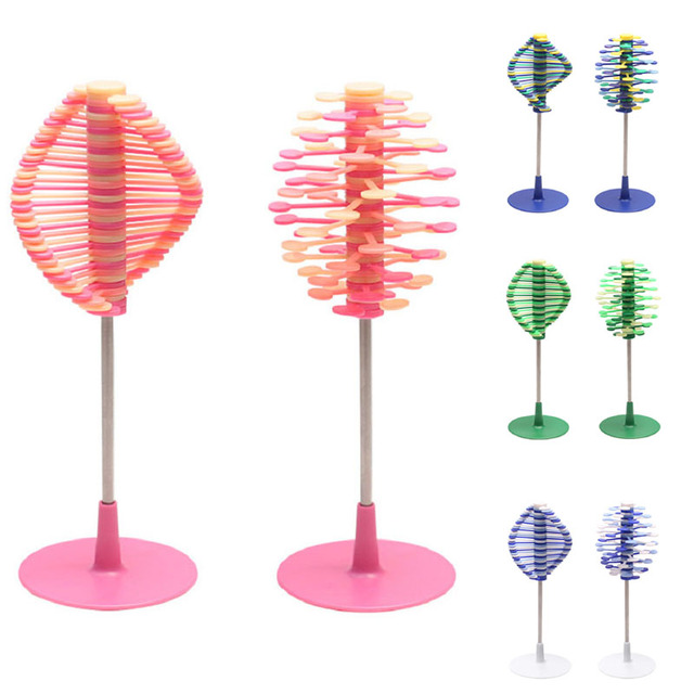 2018 New Baby Creative Ornaments Rotating Lollipop Stress Relief Toy Home Office Decoration