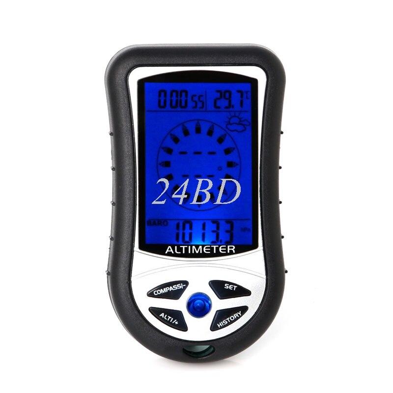 Altímetro con brújula Digital LCD, barómetro, Calendario, Reloj con temperatura térmica 8 en 1 S27