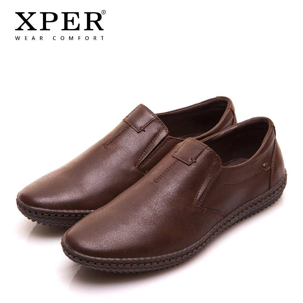 Men/'s Leather Casual Shoes Fashion Round Toe Antiskid Breathable Slip on Loafers