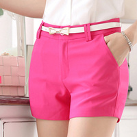 Hot Selling Lady Fashion Suit Shorts Size S 2XL Candy Colors Summer Casual Trousers Women Black