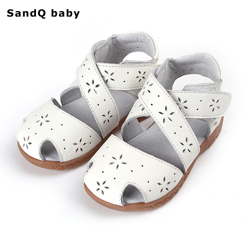 2018 Summer Sandals Genuine Leather Children Shoes for Girls Hollow Out Kids Sandals Girls Princess Shoes Girls Sandals