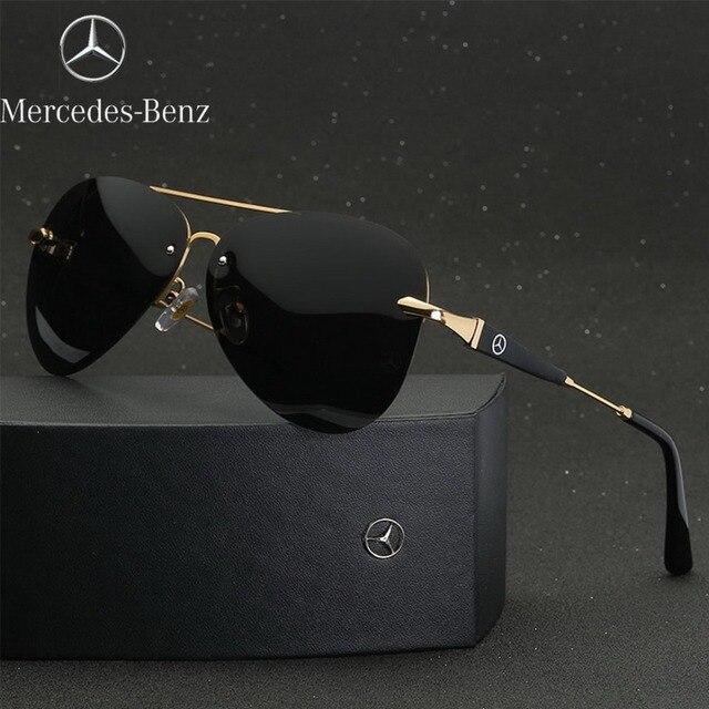 bba01af96 2019 Marca Designer Oculos Polarizados óculos de sol moda Masculina Óculos  de Sol UV400 Proteção Óculos