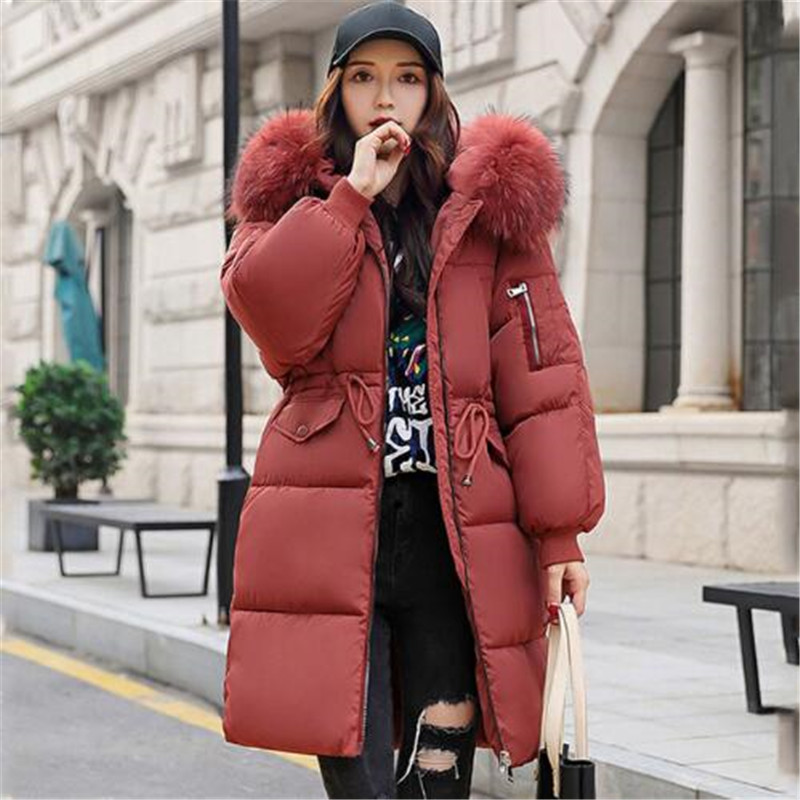 c9333472592af Moda Mujeres Collar Caliente Elegante 4 Pato Chaqueta 1 5 Grande De  Invierno Corte Nuevas Piel Slim Mujer Gruesa 2018 ...