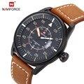 Naviforce relogio masculino relojes de moda reloj de cuarzo deporte militar relojes hombres lujo de la marca correa de cuero hombres reloj 9044