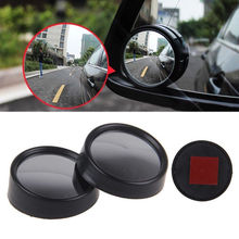 2 Pcs Car Blind Spot Mirror Rearview 2 Side Wide Angle Round Convex Auto Vehicle Rear View Mirror for VW BMW Chevrolet Hyundai