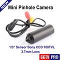 Sony 700tvl 0.001lux 3.7mm lente mini câmera pequena câmera de vídeo de vigilância bala mini câmera de segurança cctv