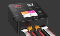 Original 200W 0.1 10.0A*2 AC100 240V ISDT D2 2CH Intelligent Balance Battery Charger Discharger 2.4N 320x240 IPS LCD For FPV RC