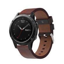 Роскошный кожаный ремешок замена часы ремешок с Инструменты для Garmin Fenix 5 GPS Jul4 профессиональная заводская цена Прямая доставка