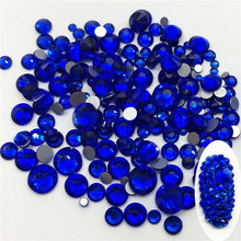Good Quality Sapphire DIY Strass Crystal ss3-ss34 Non HotFix Nail Art Flatback Rhinestones for Clothes Decorations