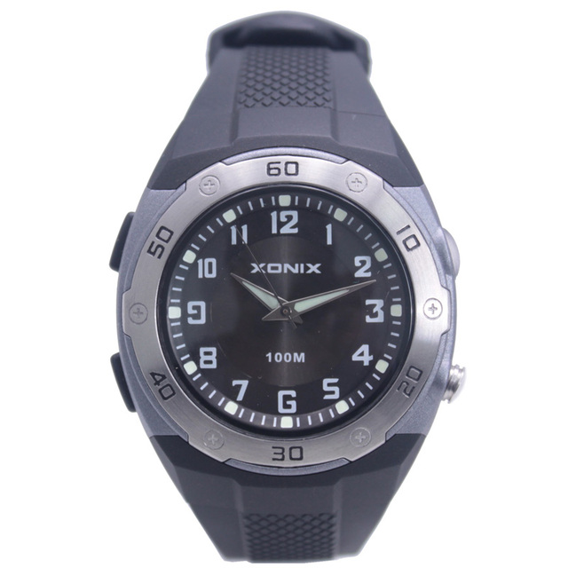 XONIX Brands  Men Sports Watch With LEDFlash Beam Waterproof 100 M Man Casual Fahion Swimming Diving Outdoor
