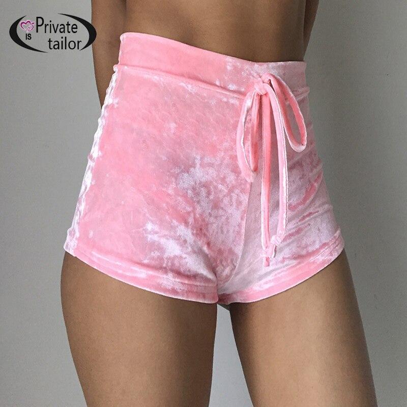 Aliexpress.com  Buy Women Velvet Drawstring Shorts Casual High Waist 2016 Autumn Winter Sexy ...