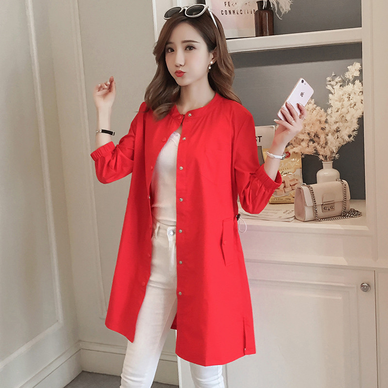 2019 Spring Autumn   Trench   Coat Women Fashion Thin Solid Windbreaker Female Casual Loose Adjustable Waist Outerwear Plus Size 3XL