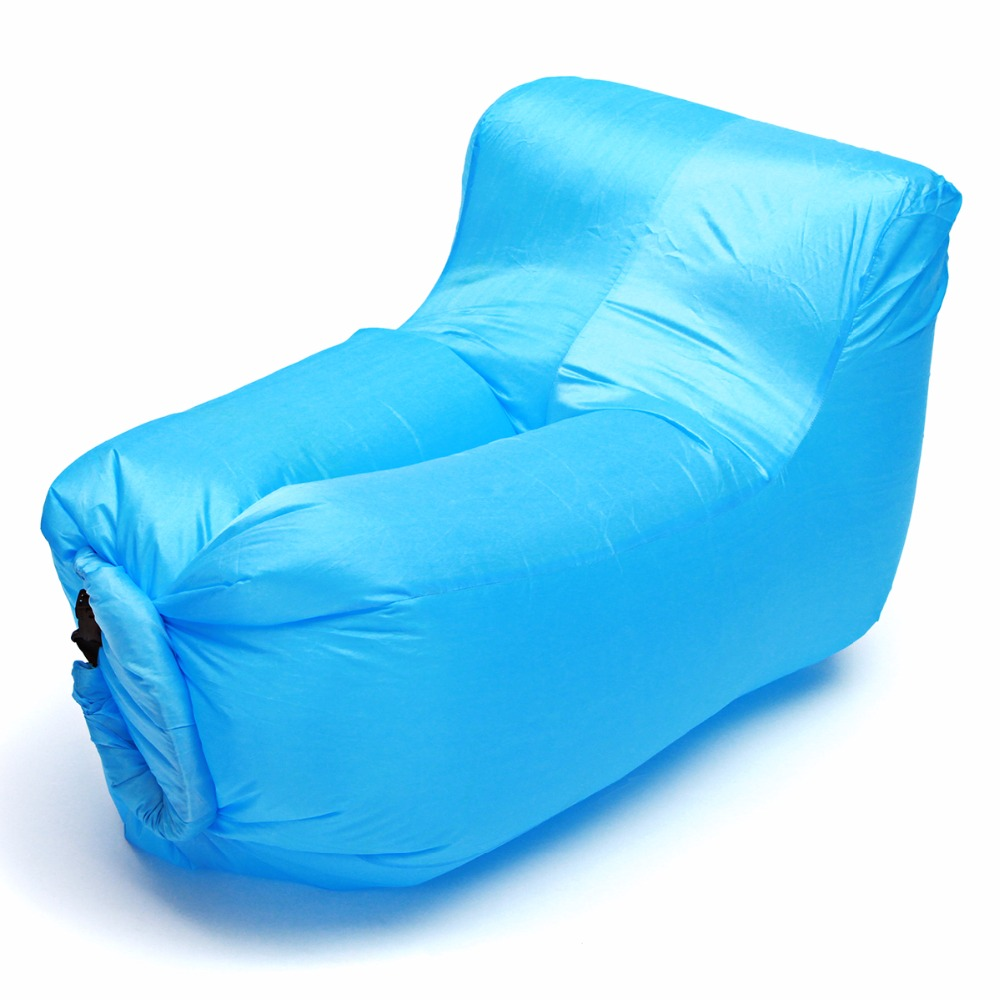 Portable Waterproof Outdoor Inflatable Lazy Sofa Folding Chair Oxford Lounger Max Load 150kg