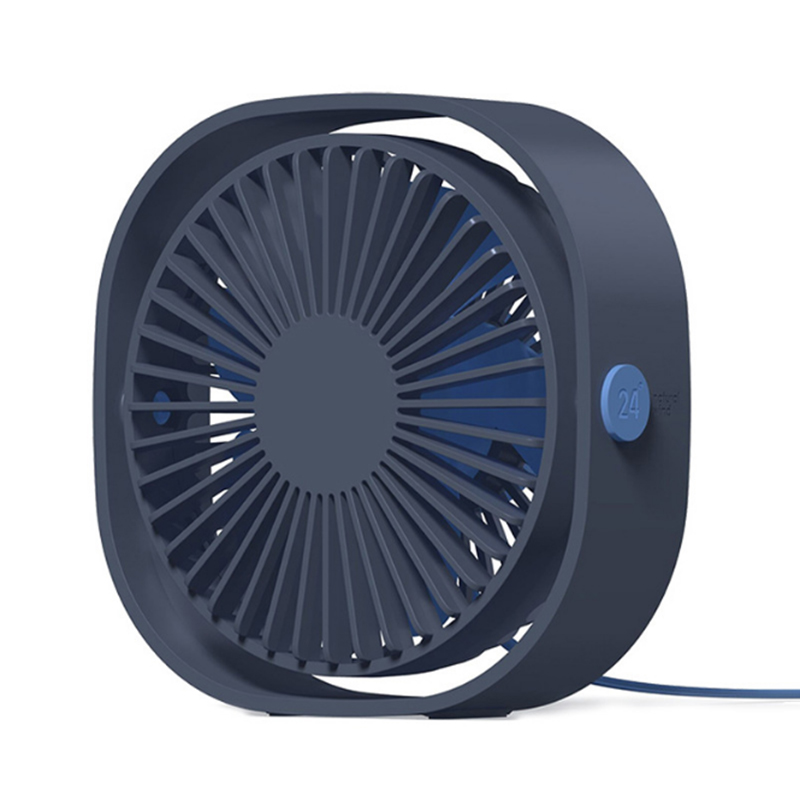 Mini Portable Cooling Fan Portable Mini USB Desk Fan,Silent Creative Home Office Desktop Fan with Three-Vane Blades Blower Fan Second Gear Color : Black