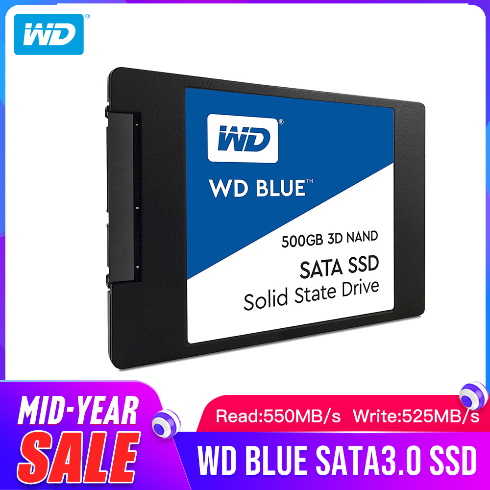 "Western Digital WD ブルー SSD interne ソリッドステート Disque Dur 250 ギガバイトの SATA 6 Gbit/s 2.5 ""WDS250G2B0A 3D NAND 250 ギガバイト  グループ上の パソコン & オフィス からの 内部 SSD の中 1"