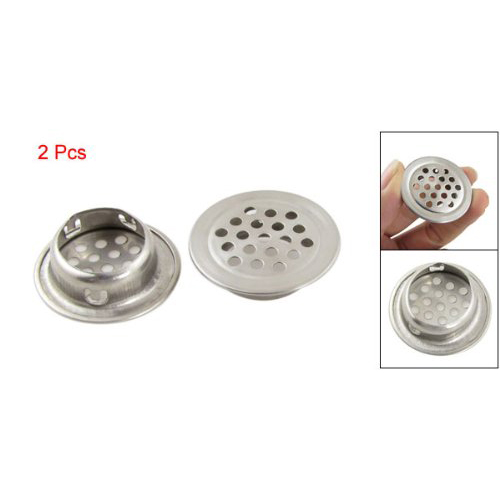 THGS 2Pcs Silver Stainless Steel 1.3