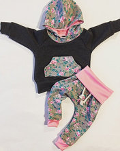 Newborn Infant Baby Girls Clothes Hoodie Sweatshirt Tops + Pants 2Pcs Outfits Set
