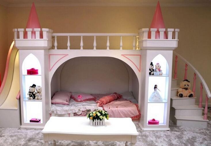 Muebles De Madera Para Quarto Meja Mewah Tempat Tidur Bayi Literas - Mebel - Foto 4