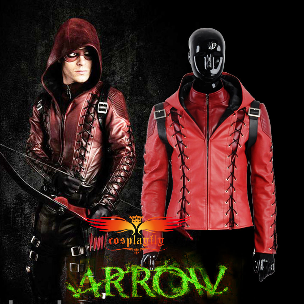 Jacket Only Green Arrow Season3 Arsenal Roy Harper Battleframe Cosplay Costume Adult Men Outfit Clothing Christmas (W0559)