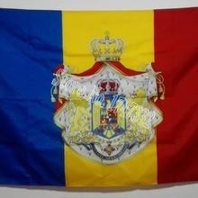 Kingdom of Romania Flag hot sell goods 3X5FT 150X90CM Banner brass metal holes KR01