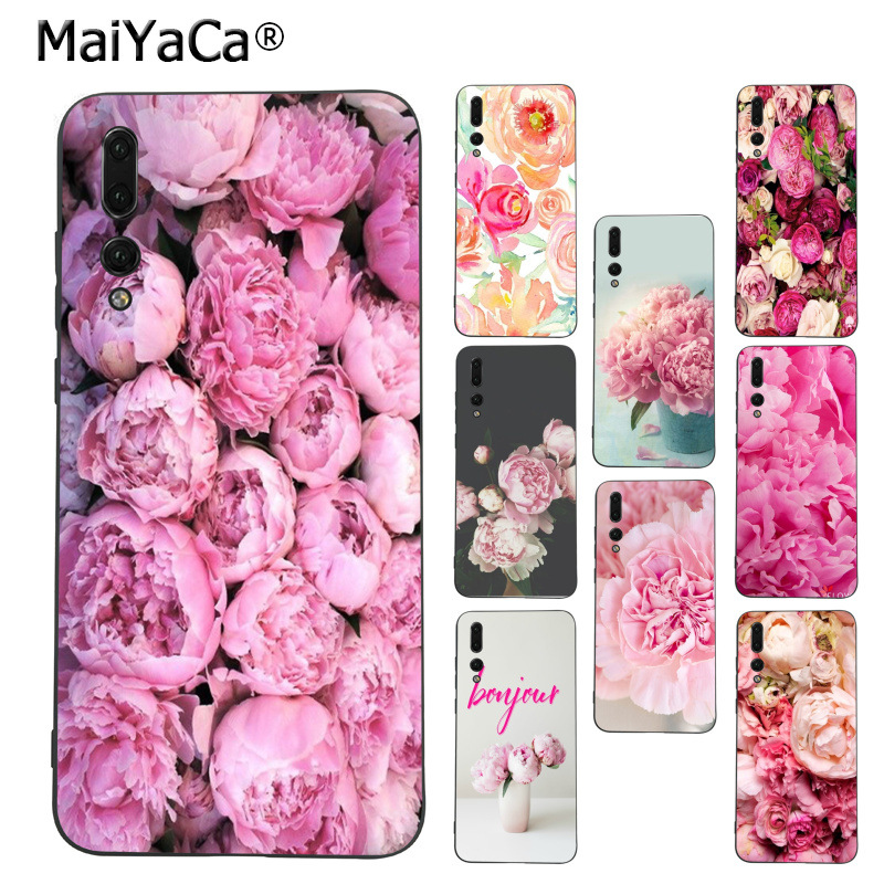 MaiYaCa Pink Peonies Unique Design High Quality phone case for Huawei Mate10 Lite P20 Pro P9 P10 Plus Mate9 10 Honor 10 View 10