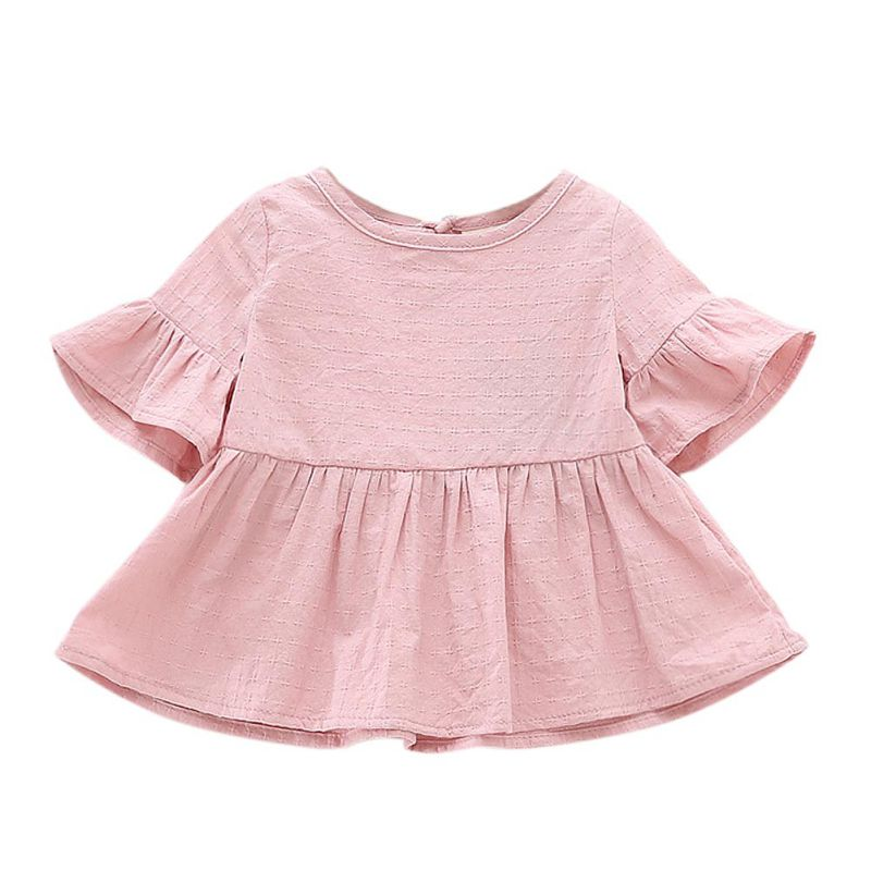Baby Kids Girls Sundress Crew Neck Party Cute Mini Princess Dress Tops Shirts Clothes