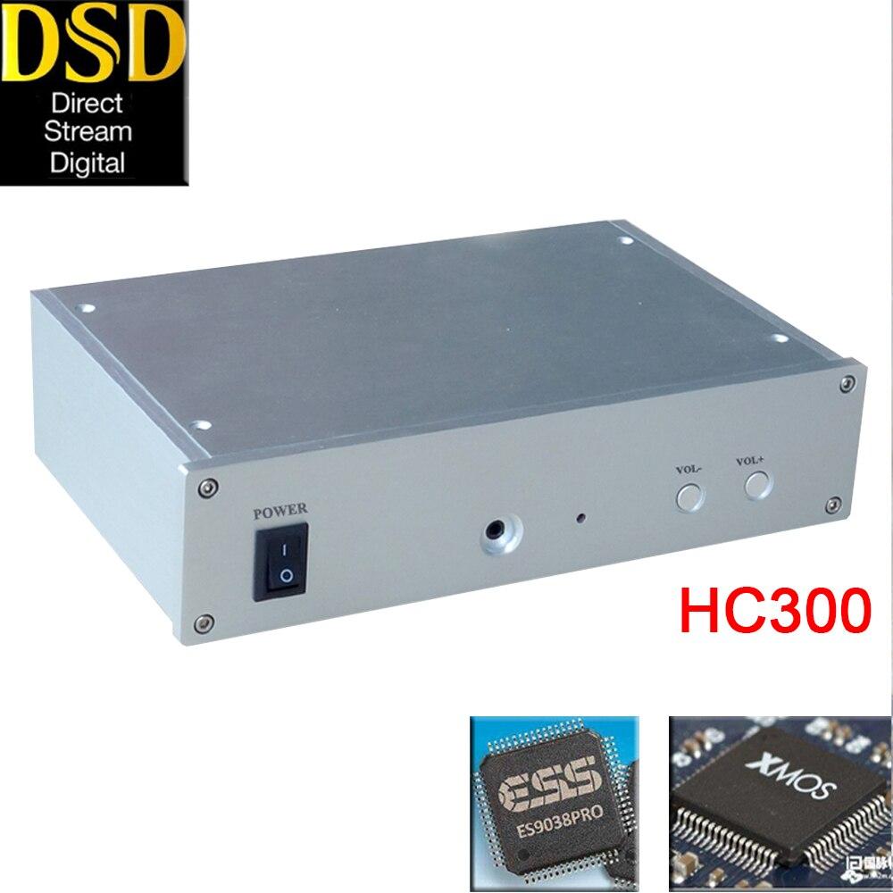 HIFI Collège HC300 HIFI audio ES9028PRO/ES9038PRO XMOS XU208 Asynchrone USB Décodeur DAC Casque Amplificateur DSD256 OPA2604AP