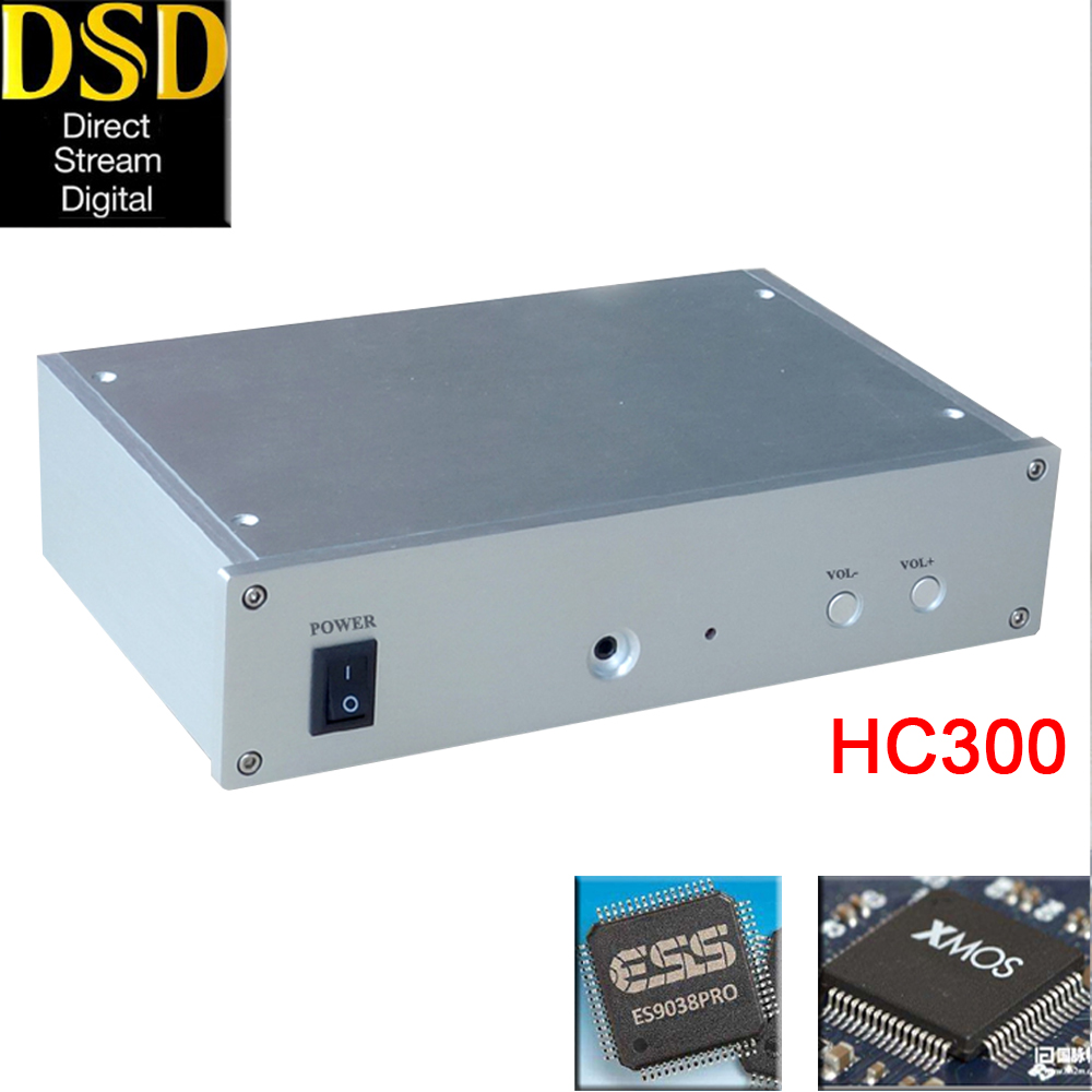 HIFI Collegio HC300 HIFI audio ES9028PRO/ES9038PRO XU208 XMOS Asincrono USB Decoder DAC Amplificatore Per Cuffie DSD256 OPA2604AP