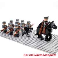 Bloques WW2 soldados del ejército tropa militar alemana Rusia ee.uu. Reino Unido Unión Soviética italia francia Japón bloques de construcción Juguetes