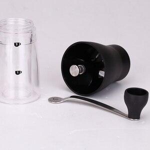 Image 3 - RU Verschiffen TUANSING Manuelle Kaffeemühle Waschbar ABS Keramik core Edelstahl Küche Mini Manuelle Hand Kaffeemühle