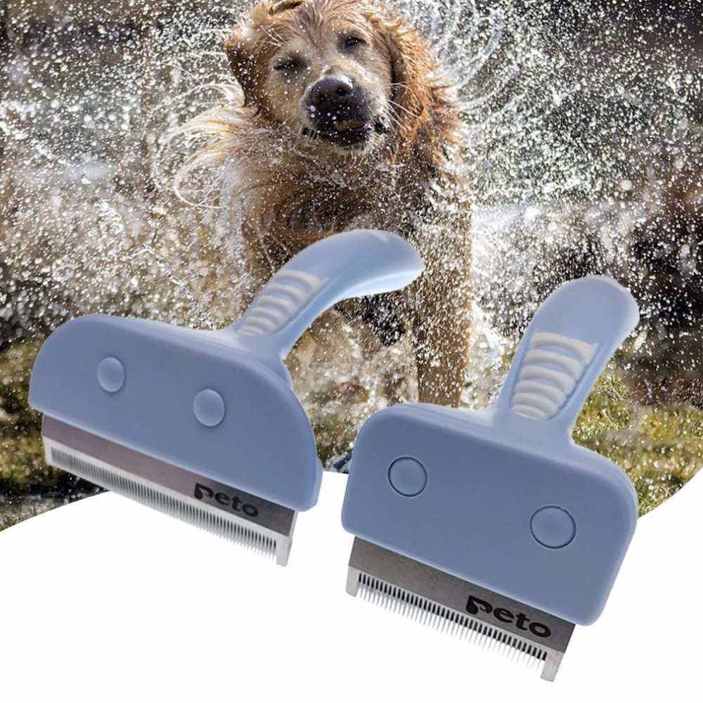 Dogs Cats Pets Hair Remover Combs Brush Grooming Tools Anti-slip Handlebar Pet Trimmer Combs Pet Supplies Hair Remover