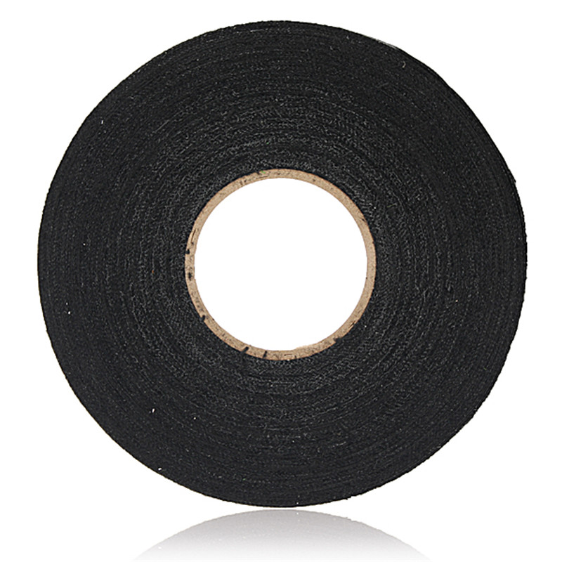 MTGATHER Anti Wear Adhesive Cloth Fabric Tape Cable Looms Wiring Harness Black Tapes 19mmx25m aliexpress com buy mtgather anti wear adhesive cloth fabric tape 3m harness tape at eliteediting.co