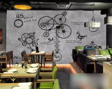 beibehang Retro nostalgic mechanical gear suitable for stylish personality cafe restaurant background papel de parede wallpaper
