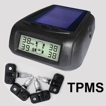 Solar Power Wireless Tire Pressure Monitoring System Car TPMS with 4pcs External sensor