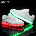 Kriativ colorido de carga usb brillante chica zapato led niños shoes infantil led niño zapatillas light up shoes led luminoso zapatillas