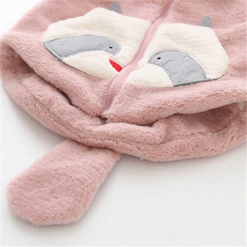 Осенне-зимний детский флисовый жилет с капюшоном и рисунком енота для маленьких мальчиков и девочек, кардиган, верхняя одежда