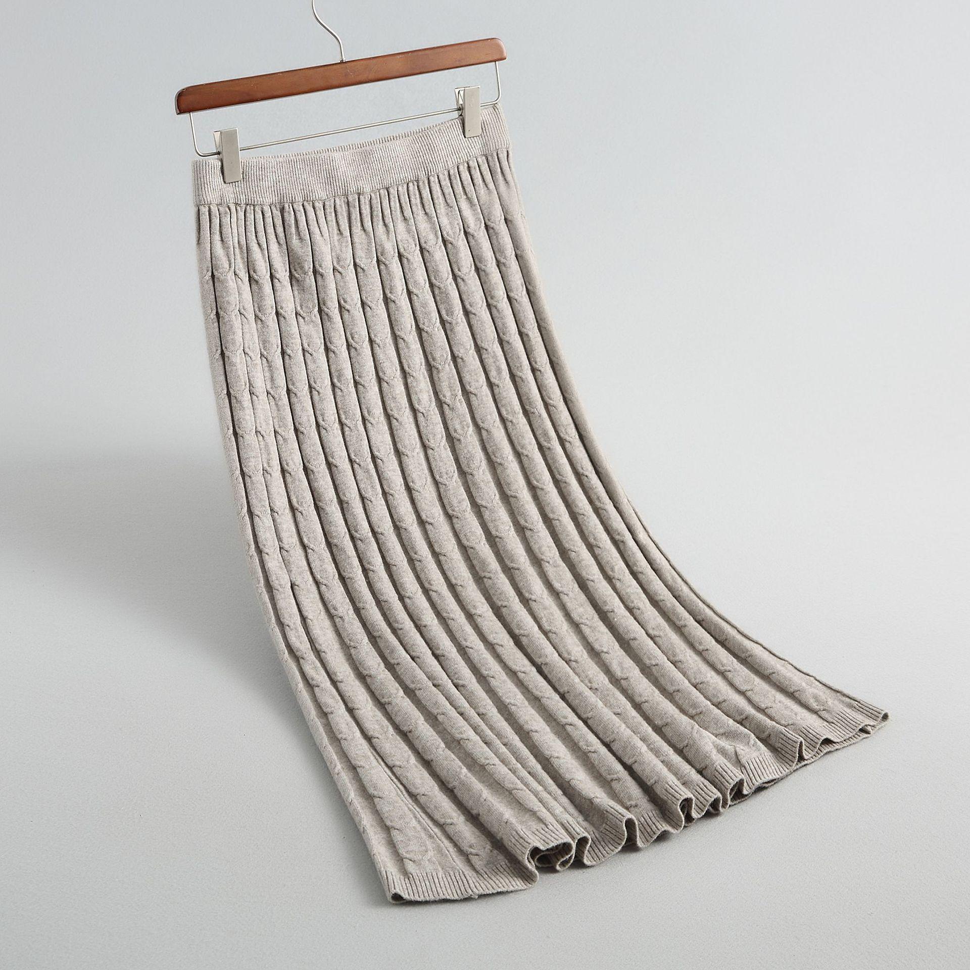 Sherhure 2020 Women Autumn Skirts High Waist Knitting Women Long Skirt Saias Women Pencil Skirt Jupe Femme Faldas