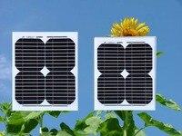 Класс Солнечный плиты Портативный 12 В 10 Вт 2 шт. солнечных батарей 24 В 20 Вт Batterie Solaire Caravan led Кемпинг Автомобиля 12 В турбины