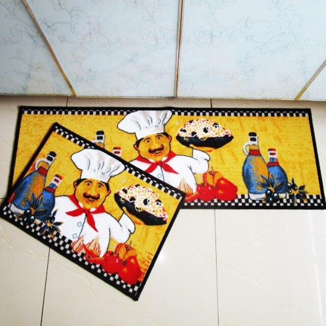 40X60+40X120CM/Set Cartoon Chef Kitchen Mat Home Entrance/Hallway Doormat  Anti
