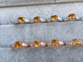 Природный цитрин Кольцо Естественно желтый кристалл Кольцо стерлингового серебра 925 модный Лаки крылья Ангела женщин партии fine Jewelry