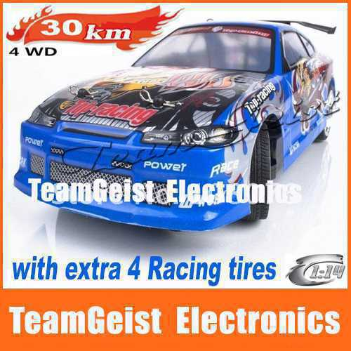 MAX 30km/h Blue 1:14 RC R/C drift car Radio Controlled Cars 4WD Racing Cars Orig