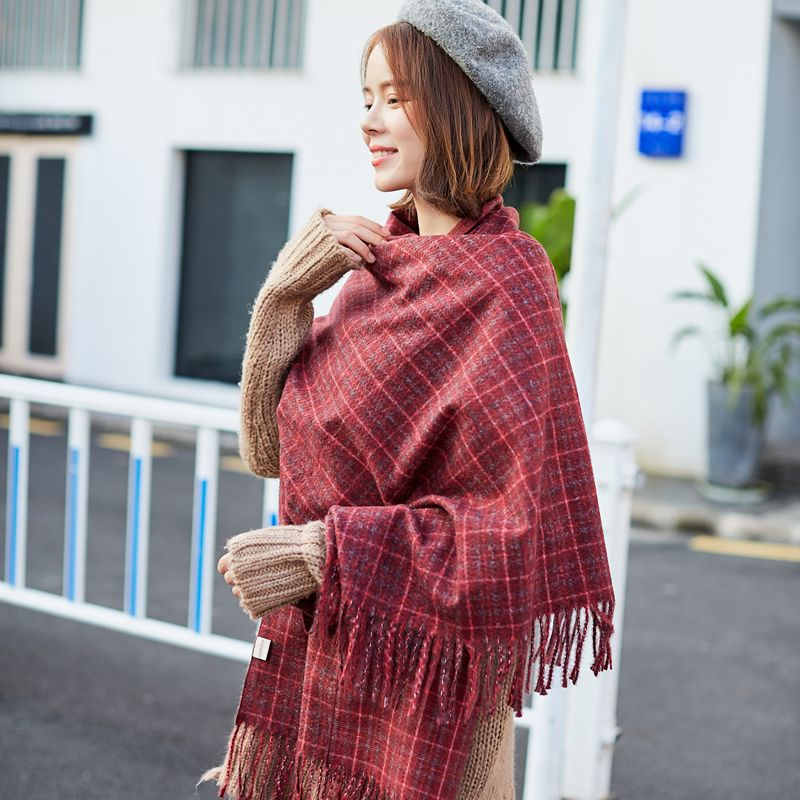 Cotton   Scarf   Woman Shawls And   Scarves     Wrap   Cotton Wrinkle Lady Shawls Plaid   Scarf