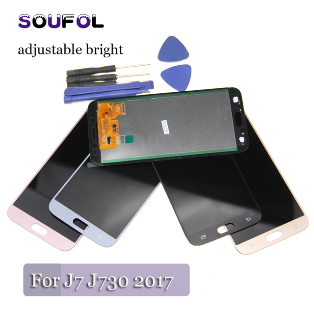 US $6 12 |LCD For Samsung galaxy J7 pro J730 J730F J730GM/DS J730G Lcd  Display Touch Screen Digitizer assembly adjustable brightness-in Mobile  Phone