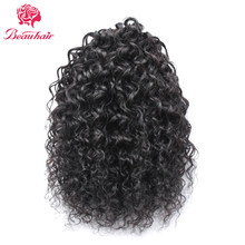 Beauhair Indian 12-16inch kinky Curly Hair Drawstring Ponytail 100% huamn Hair Extension nature color Non remy hair for women(China)