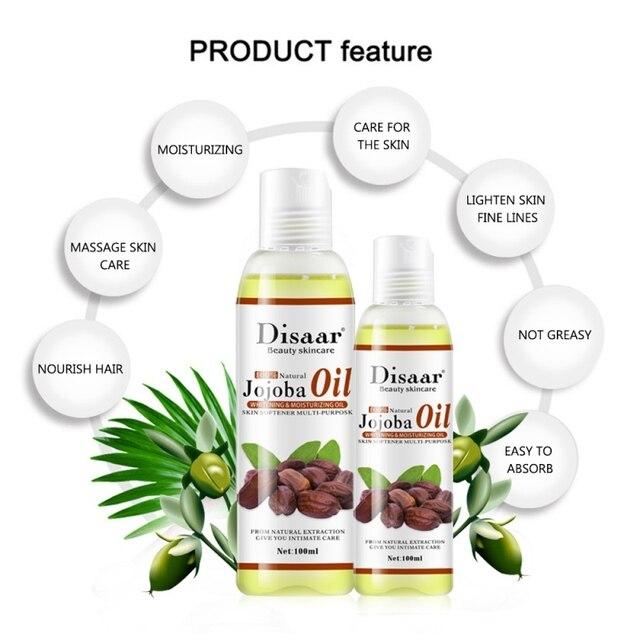 Huile de Jojoba naturelle Pure soins de la peau huile de désintoxication lymphatique Anti-âge SPA adapté à lhuile de Massage relaxante pour le corps