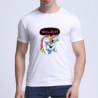 2017 Summer Fashion Dabbing Pug T Shirt Newest Men Funny T Shirts Dabbing Unicorn Cat Zebra