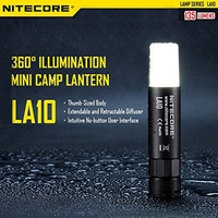 Nitecore LA10 CRI 135 lumens Mini EDC Camping Nichia XP-G2 S3 LED Flashlight 1 x AA Battery For Gear Outdoor Camping(3 color)
